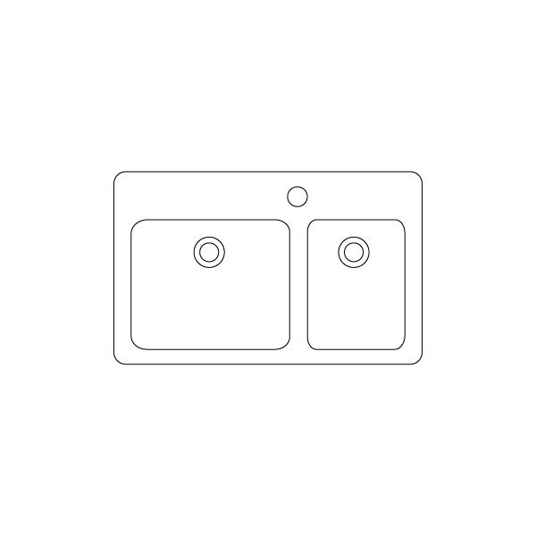 sadoper so dve asimetricni korita